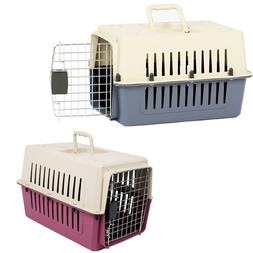 """VILOBOS 16"""" Small Cat Dog Carrier Travel Cage Portable Crate"""