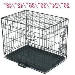 "20""36""42""48""24 36""Pet Cat Dog Folding Crate Playpen Metal Ca"