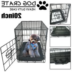 "20"" Small Dog Crate Kennel Animal Cage Folding Iron Wire Pet"