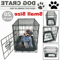 "20"" Small Dog Crate Kennel Cage Wire Steel Metal Pet Playpen"