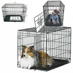 "20"" Small Pet Kennel Cat Dog Crate Animal Playpen Wire Metal"