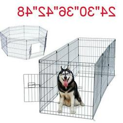 """24""""—48"""" Tall Wire Fence Pet Dog Cat Folding Exercise Yard"""
