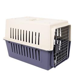 """24""""Plastic Travel Carrier Pet Crate for Puppy Dog & Cat W/ D"""
