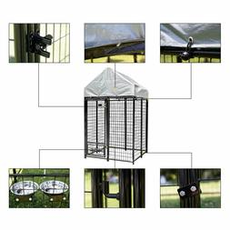 4'x4'x6.8' Tall Heavy Duty Outdoor Dog Kennel Cage with Anti