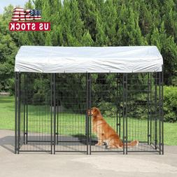 """71""""H Outdoor Dog Kennel Dog Crate Cage Large w/UV Protection"""