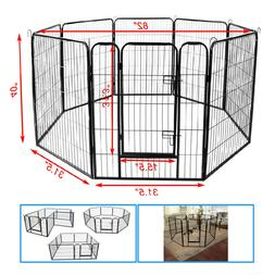 """8 Panel 40"""" Heavy Duty Metal Cage Crate Pet Dog Exercise Fen"""