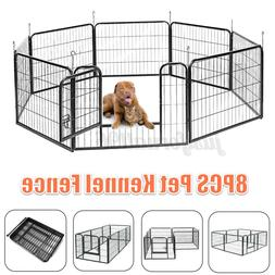 8 Panel Heavy Duty Metal Cage Crate Pet Dog Exercise Fence P