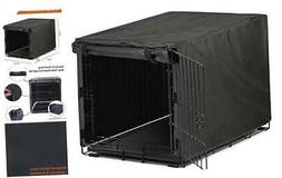Black Dog Crate Cover for 24 36 42 48 Inches Metal Crates Wi