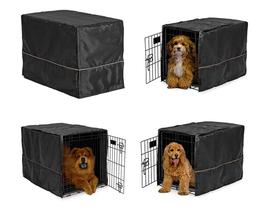 Black Opaque Dog Crate Cover Selections - Quiet Night Time D