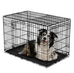 Dog Crate Extra Large Double Door Folding Dog Cage Pet Crate