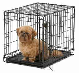 MidWest Homes for Pets Dog Crate Single Door Folding Metal D