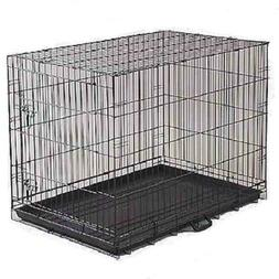 DOG CRATE Medium Portable Folding Metal Kennel for Home or T