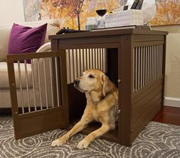 Dog Kennel End Table Crate Wood For Extra Large Dogs Steel S
