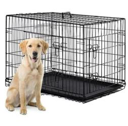 """Qpets Double Door Folding Dog Cat Kennel Crate Cage 24"""""""
