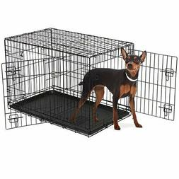 Extra Large Dog Crate 48 Kennel Folding Pet Cage 2 Doors XXL