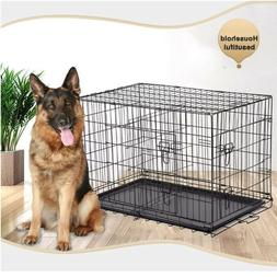 Extra Large Dog Crate Cage Pet 48 Inch Kennel Big Folding Me