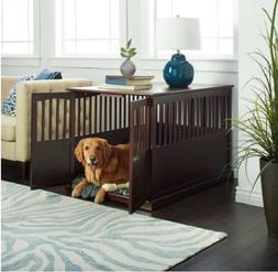 extra large dog crate wood furniture end