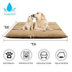 Extra Large Pet Dog Cat Crate Kennel Cage Bed Pad Cushion Wa
