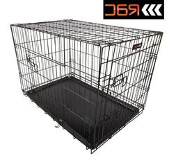FOLDING TRAINING CRATE CAGE FOR DOG PUPPY - SMALL MEDIUM LAR