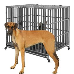 Giant Dog Crate Strong Metal Military Pet Kennel Playpen Lar
