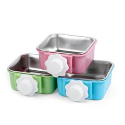 Hang-on Bowl Metal For Pet Dog Cat Crate Cage Food Water Bow