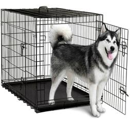 """Heavy Duty Dog Crate XL Large Cage 48"""" Door Divider Handle P"""