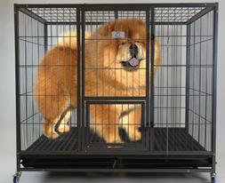 """Homey Pet-49"""" Extra Large Heavy Duty Metal Dog Cage Kennel w"""