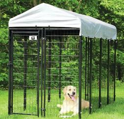 Heavy duty metal dog kennel pet play pen with removable roof
