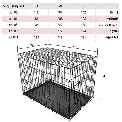 Portable Crate Cage Kennel Pen