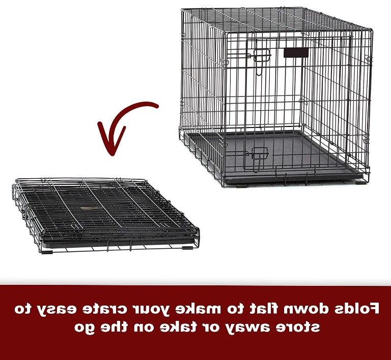 """24"""" Pet Dog Crate Kennel pan Folding & Cover"""