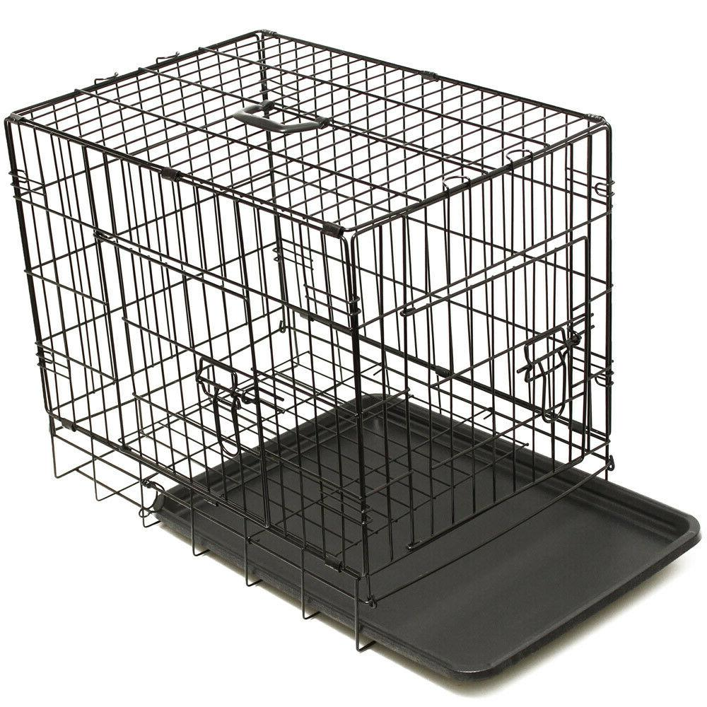 """30"""" Crate Wire Cage With Pan and Divider"""