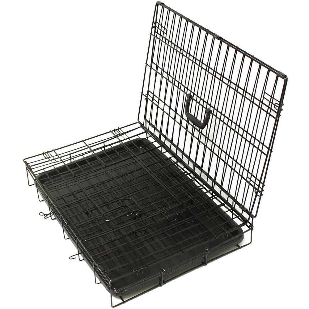"""30"""" Dog Crate Wire Kennel With Divider"""