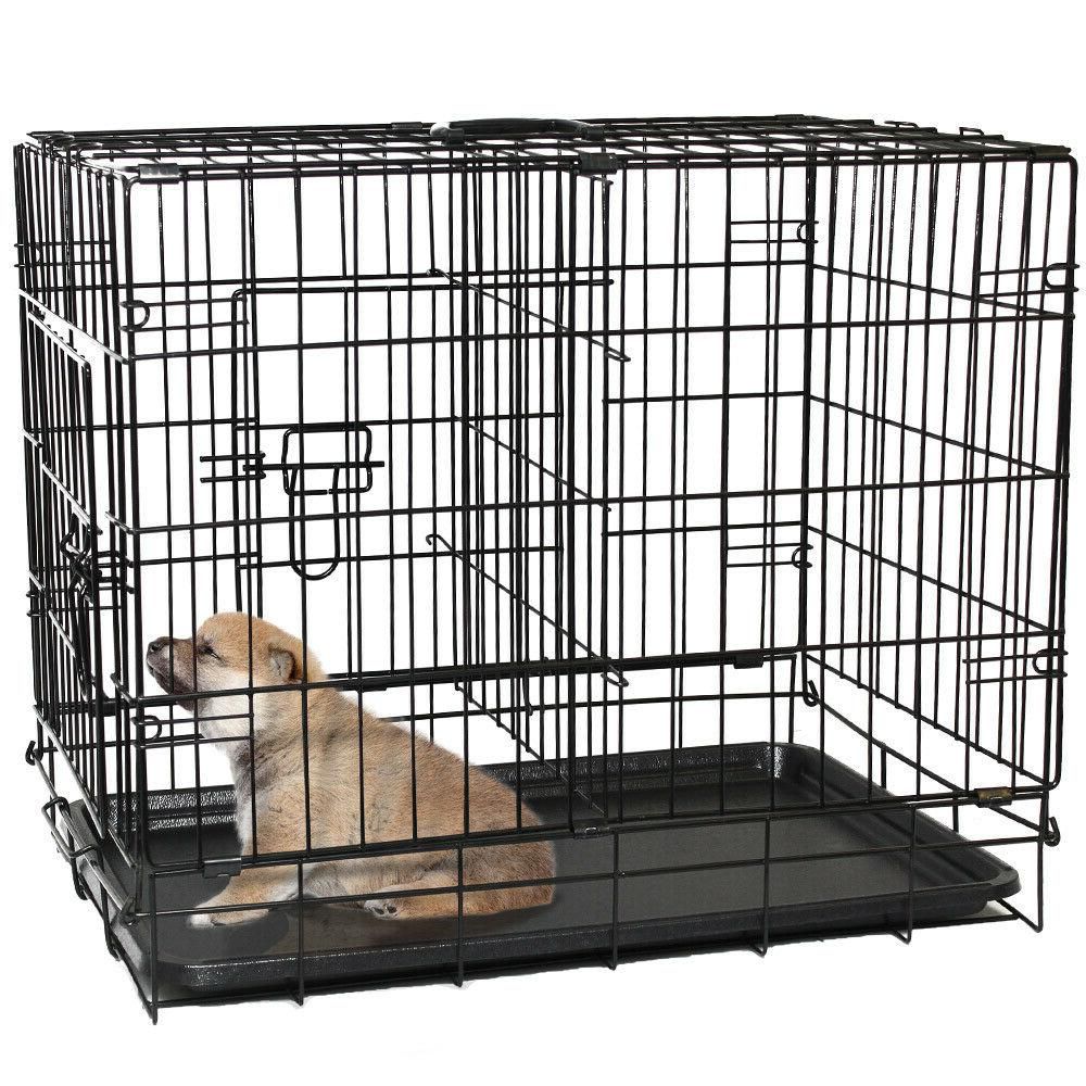 """30"""" Dog Crate Wire Metal Kennel With and Divider"""
