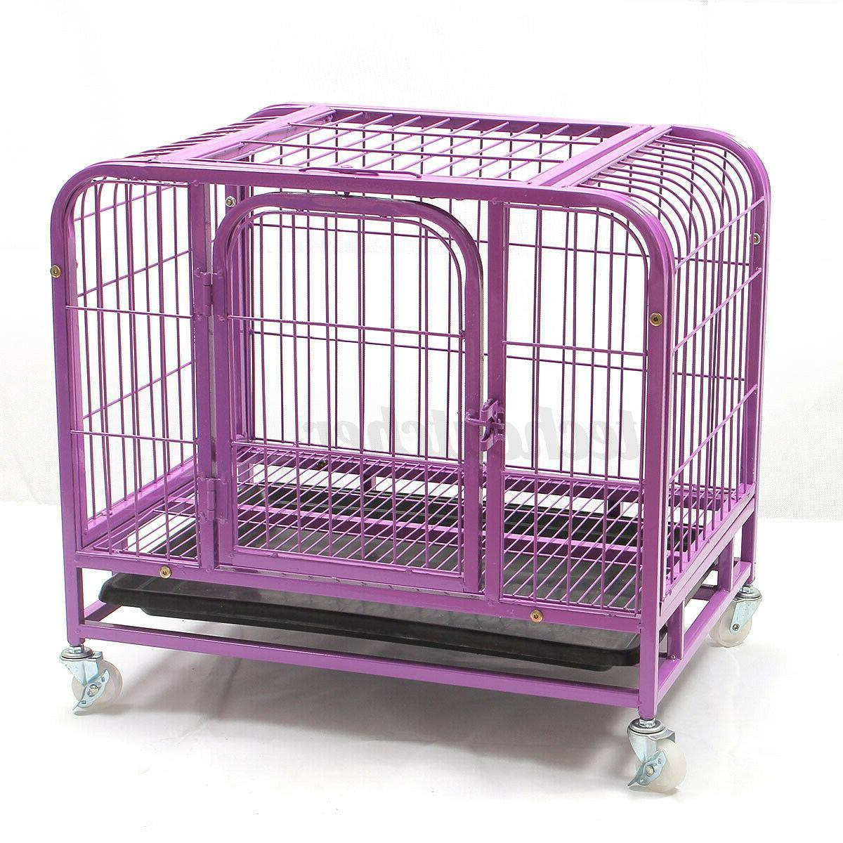 31'' Small Dog Crate 2 Animal Cat Pet Cage Puppy Kennel House w/