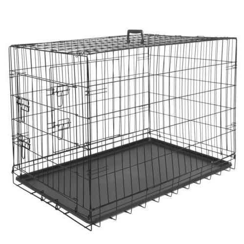 """36"""" Kennel Folding Metal 2 With Pan"""