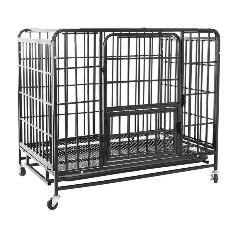 "36"" Heavy Duty Dog Cage Crate Kennel Metal Pet Playpen with"