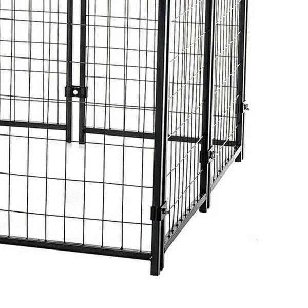 "Lucky Dog 4'6""H 4'L Welded Wire Kennel w/ Heavy"