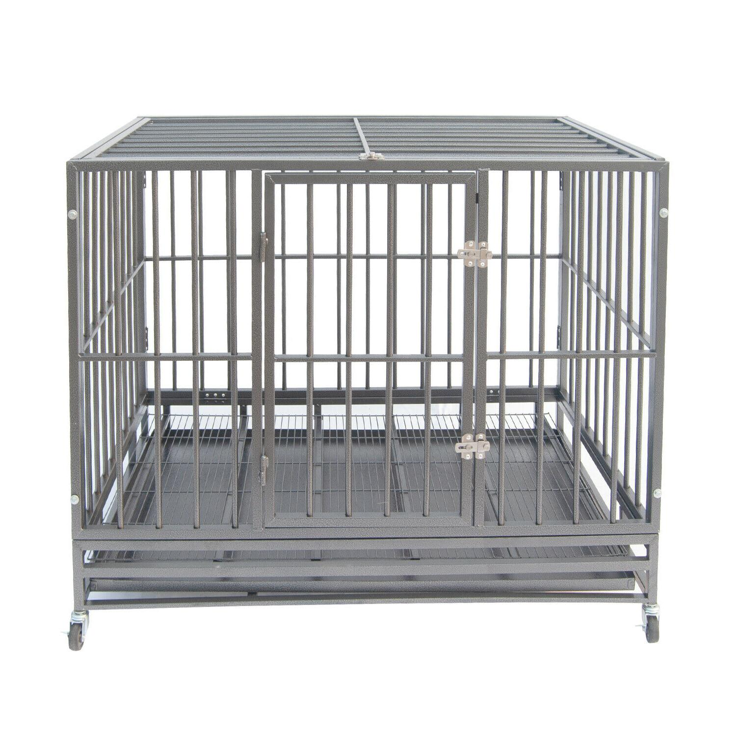 42 gray heavy duty dog cage strong