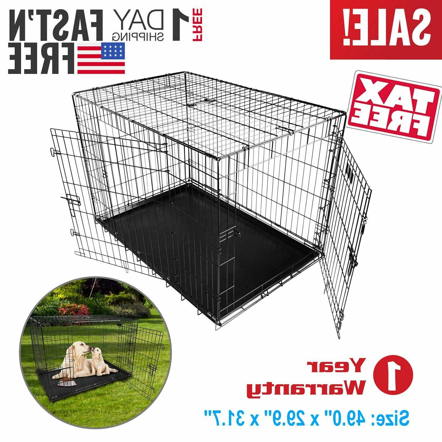 Extra Large Kennel Folding Cage SHIP