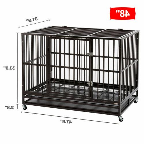 """48"""" Kennel Cage Metal &"""
