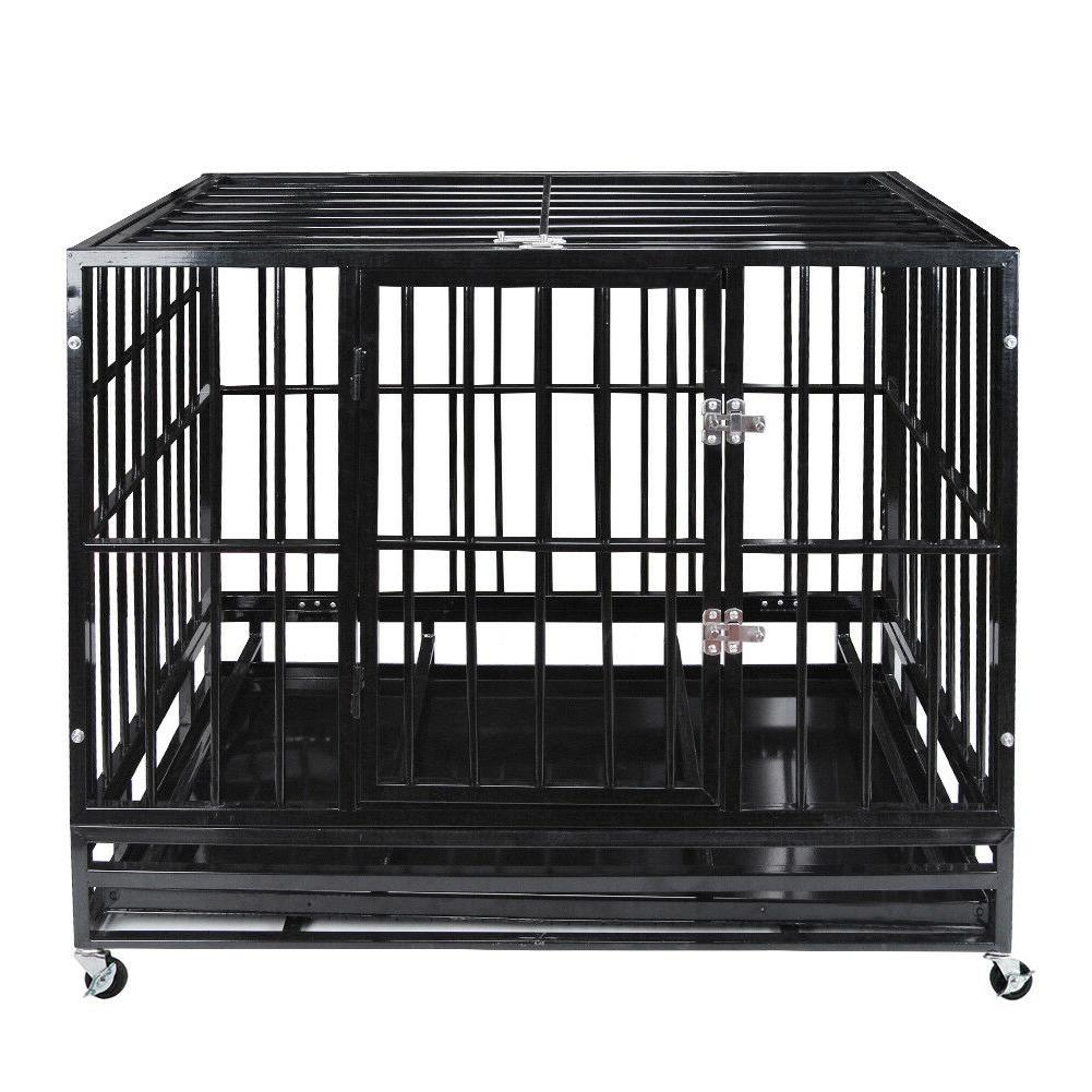 48 heavy duty pet dog cage strong