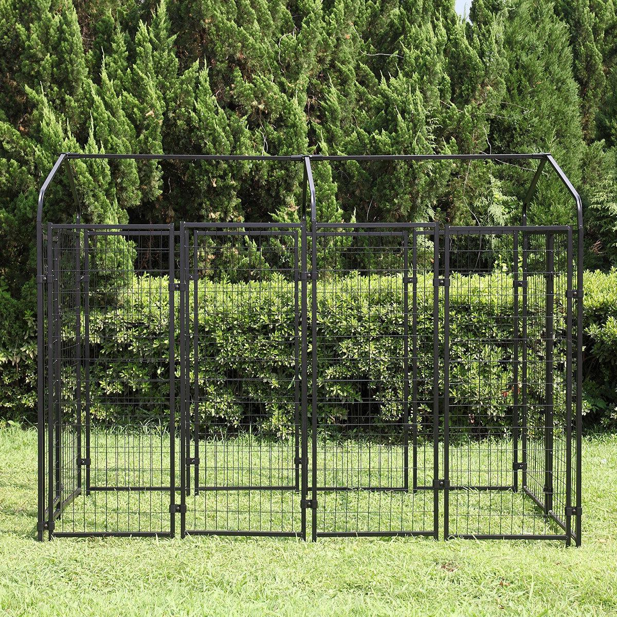 """71""""H Outdoor Dog Crate Cage Large w/UV Protection"""