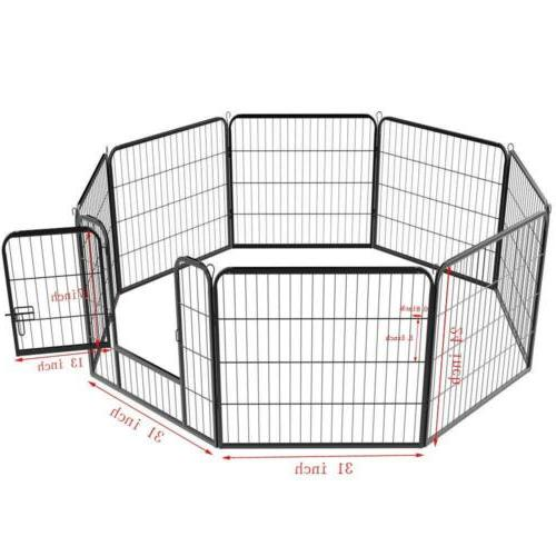 8-Panel Cage Crate Pet Playpen Fence Kennel