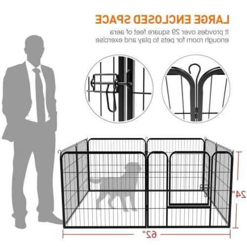 8-Panel Duty Cage Crate Playpen Exercise Kennel