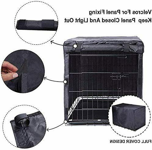 Black Crate Cover for 24 36 48 Inches Metal Crates Wire Dog Ind
