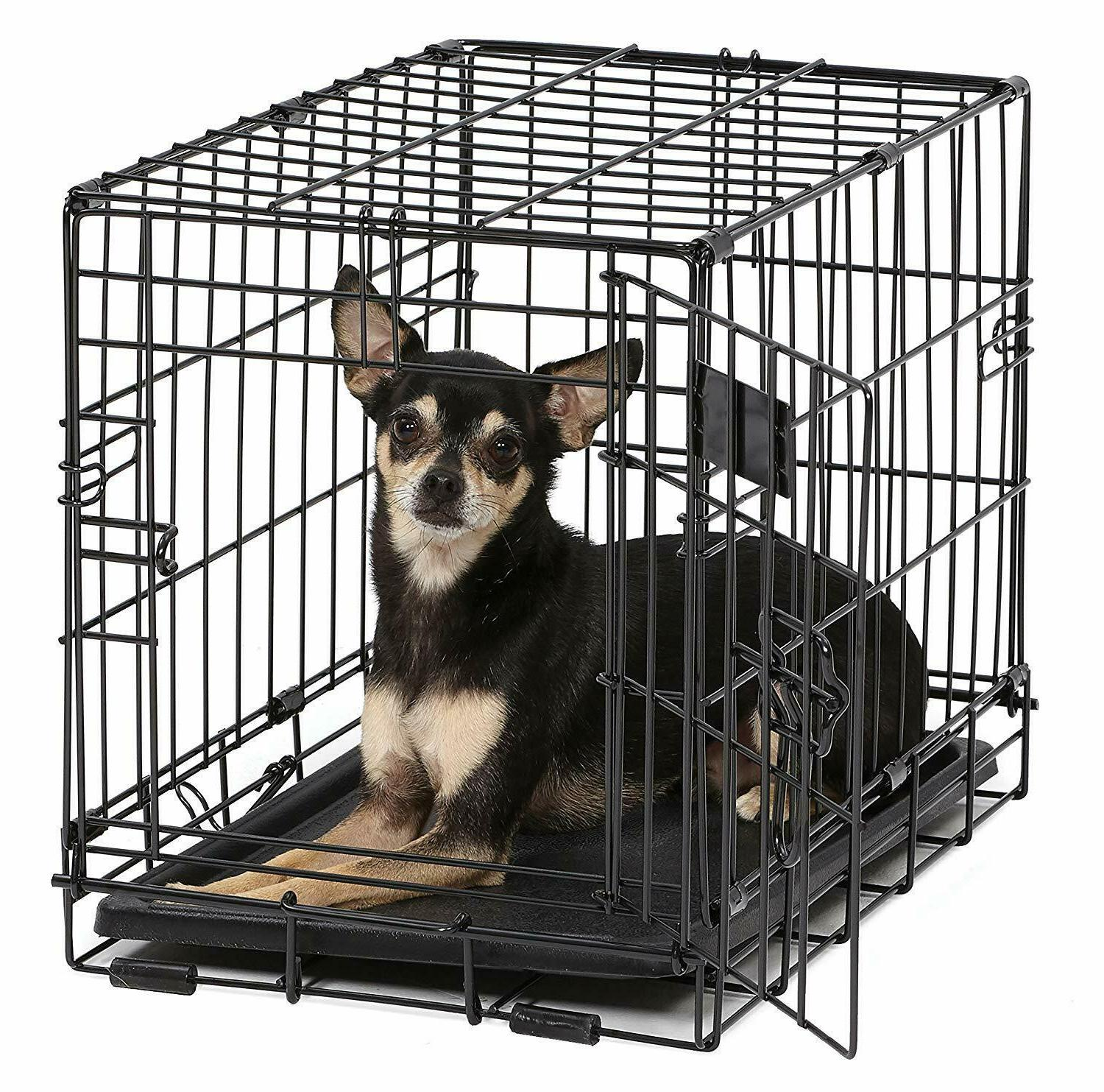 Pet Cage for Extra Small Breed Dog Crate Tray Metal Home Ken