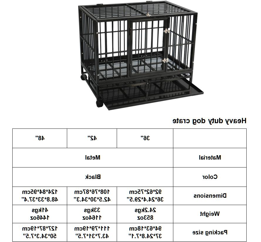 """Dog Large Kennel Cage Heavy Duty 36""""/42""""/48"""""""