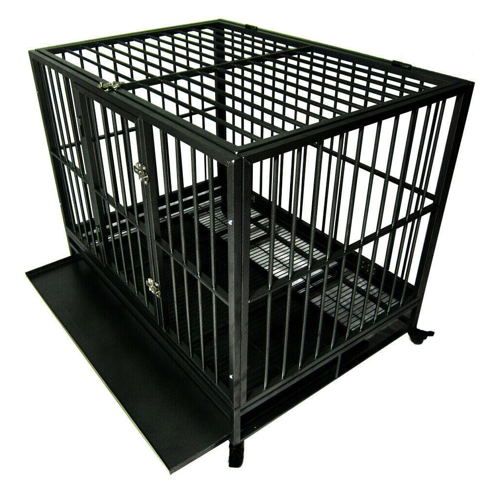 """Dog Crate Large Cage Heavy Playpen 36""""/42""""/48"""""""