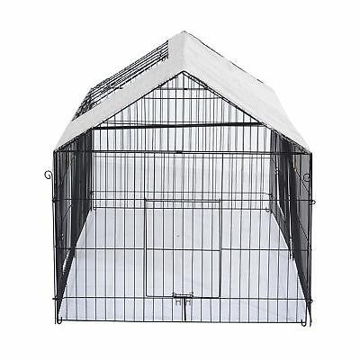 Outdoor Dog Kennel Crate Pet Playpen w/Cover