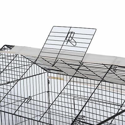 """Outdoor 87"""" Large Kennel Crate Pet Playpen Run w/Cover"""